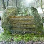 Ri279 Hier stand das Forsthaus Mittlere Isenach - Matternshuette